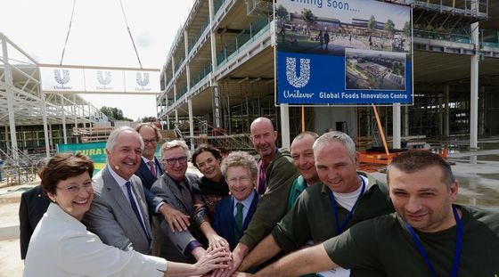 Unilever's Global Foods Innovation Centre in Wageningen reaches highest point and receives BREEAM Outstanding sustainability certificate