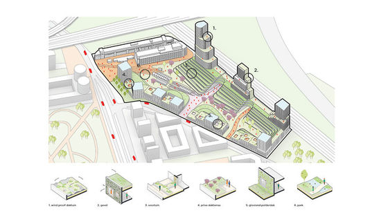 Nature-inclusive architectural concept for the Municipality of The Hague
